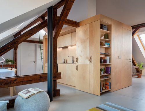 Interier leta – zasebni: Podstrešno stanovanje Tivolska